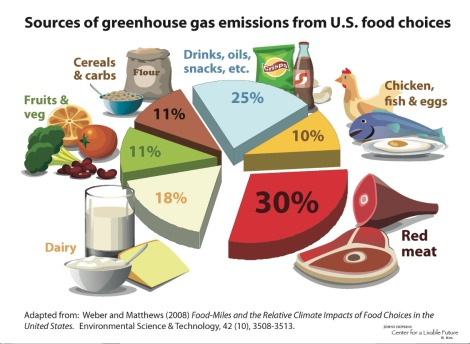 Sources of GHG-food piechart.